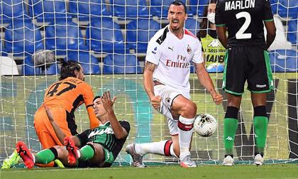 Ibrahimovic tỏa sáng với cú đúp, AC Milan lập kỷ lục sau 55 năm