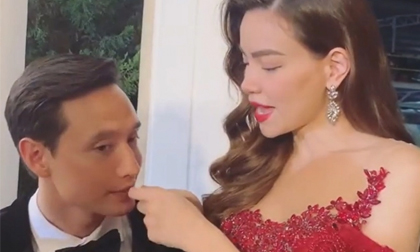 Khoảnh khắc Hồ Ngọc Hà 'vất vả' dạy Kim Lý nói tiếng Việt khiến fan thích thú