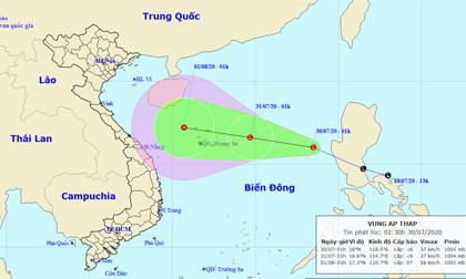 Bản tin thời tiết ngày 30/7: Xuất hiện áp thấp trên biển Đông gây mưa lớn, gió giật