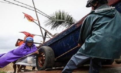 2 người chết, hàng nghìn hecta lúa ngập sau bão số 2