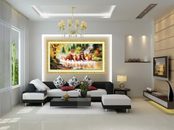 '. Học cách người giàu treo tranh để mang vận khí tốt, rước tài lộc vào nhà .'