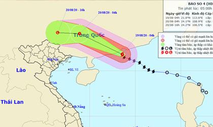 Dự báo thời tiết 19/8: Bão số 4 suy yếu, mưa giông ở nhiều nơi