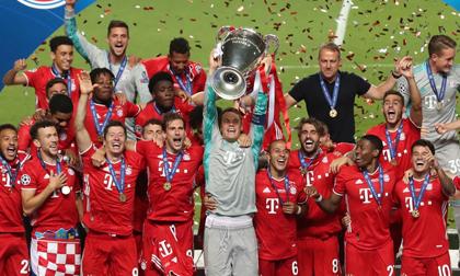 Bayern lập kỳ tích trong ngày đăng quang Champions League