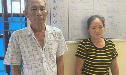 Cặp vợ chồng giang hồ đi tù về hành nghề buôn ma túy, thủ súng, dao kiếm trong nhà