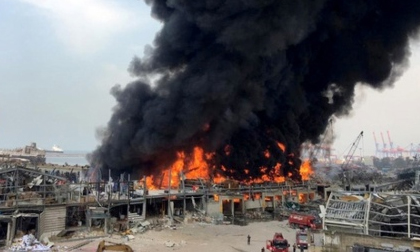 Cháy lớn ở cảng Beirut, gần vụ nổ kinh hoàng 1 tháng trước
