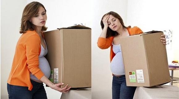 Mẹ bầu không nên vác nặng