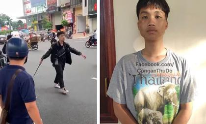 Tạm giữ hình sự nam thanh niên 17 tuổi đập phá xe máy trên đường Trường Chinh sau va chạm với bà bầu