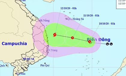 Áp thấp nhiệt đới hướng vào miền Trung, có nơi mưa đặc biệt to