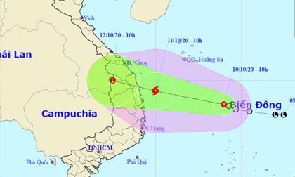 Áp thấp nhiệt đới khả năng mạnh lên thành bão, hướng thẳng vào miền Trung