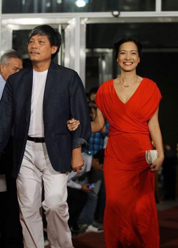Vợ chồng NSND Lê Khanh và đạo diễn Phạm Việt Thanh.