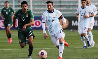 Argentina chật vật giành 3 điểm tại sân đấu ở độ cao hơn 3.600 m