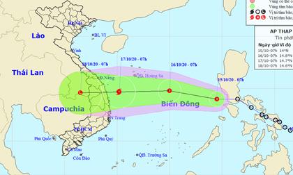 Áp thấp nhiệt đới khả năng mạnh lên thành bão hướng vào miền Trung