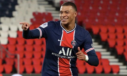 Mbappe rực sáng với cú đúp, PSG lên đầu bảng Ligue 1