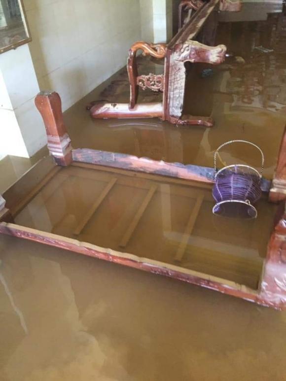 Khung cảnh nhà cửa tan hoang sau trận 'đại hồng thuỷ' ở Quảng Bình: Tài sản bị ngâm nước nhầy nhụa bùn đất, thóc mọc mầm, vật nuôi chết hàng loạt - 1