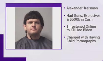 Thanh niên 19 tuổi chất đầy súng, thuốc nổ lên xe để 'ám sát ông Biden'