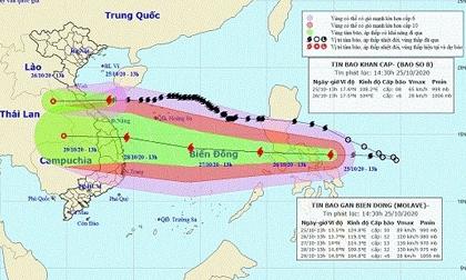 Bão chồng bão hướng vào miền Trung, mức độ rủi ro thiên tai cấp 3