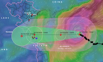 Bão số 8 và 9 sẽ gây ngập úng diện rộng ở miền Trung