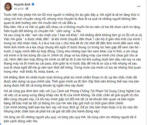 Bạn gái Quang Hải chính thức lên tiếng về tin đồn 'cắm sừng', phủ nhận đã chia tay nam cầu thủ