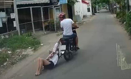 Tên cướp kéo lê cô gái hàng trăm mét ở TP.HCM