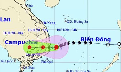 Bão số 12 giật cấp 12 đổ bộ từ Bình Định - Ninh Thuận trong sáng nay 10-11