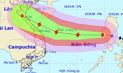 Bão Vamco đã vào Biển Đông, giật cấp 15 nhắm thẳng Hà Tĩnh đến Quảng Nam
