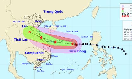 Bão số 13 giật cấp 15 chuẩn bị đổ bộ, từ Hà Tĩnh đến Quảng Nam mưa rất to từ ngày mai
