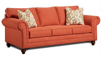 Sofa màu cam hiện đại cho phòng khách đầy màu sắc & phong cách