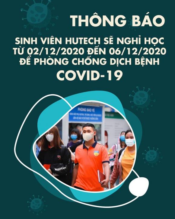 ĐH Công nghệ TP.HCM thông báo cho sinh viên nghỉ học kể từ ngày 2/12 - 6/12/2020