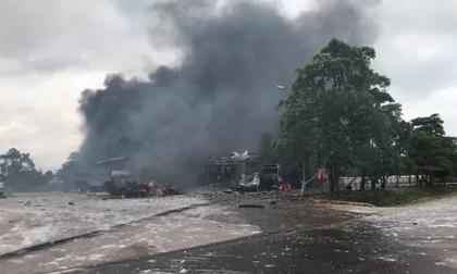 Cháy nổ lớn ở biên giới Việt - Lào khiến 2 người tử vong, 6 người bị thương