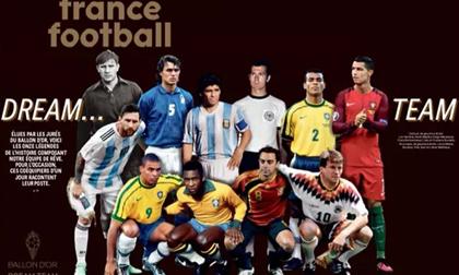 Đội hình trong mơ 'Quả bóng vàng': Messi và Ronaldo sánh vai huyền thoại