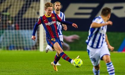 Ngược dòng trước Real Sociedad, Barcelona trở lại nhóm đầu bảng