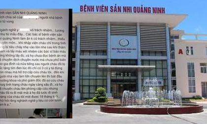 Quảng Ninh: Bé trai 18 tháng tuổi tử vong sau khi truyền dịch