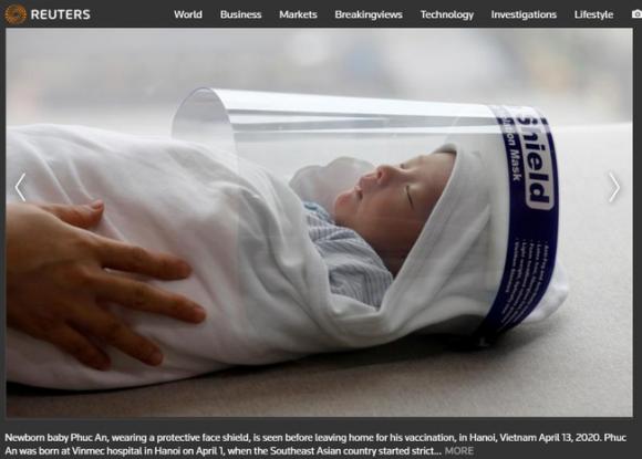 Bé sơ sinh Việt Nam lọt vào danh sách ảnh ấn tượng nhất năm 2020 của Reuters
