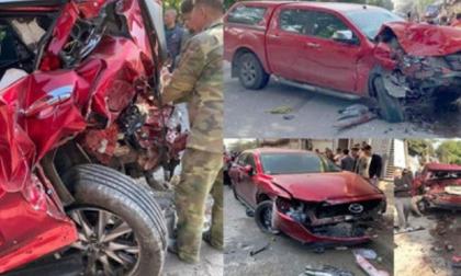 Tai nạn kinh hoàng ngày cuối năm: Xe bán tải tông hàng loạt phương tiện, 1 người chết, 3 người bị thương