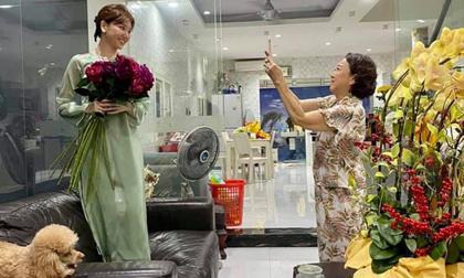 Chỉ 1 chi tiết trong ngày đầu năm, Hari Won đã chứng minh được mối quan hệ với mẹ chồng