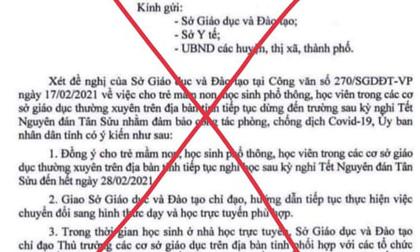 Điều tra việc giả mạo văn bản Sở GD-ĐT Đắk Lắk cho học sinh nghỉ học