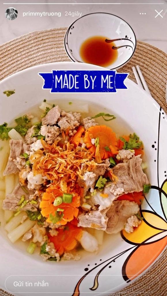 Primmy Trương khoe thành quả tự nấu, hé lộ cuộc sống khá nhàn sau kết hôn