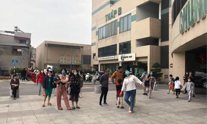 Cháy chung cư Mipec Long Biên, người dân hốt hoảng tháo chạy