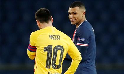 Mbappe xô đổ kỷ lục của Messi trong ngày tiễn Barca rời Champions League