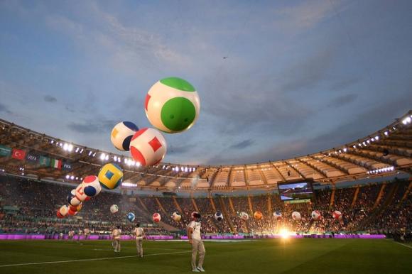 Mãn nhãn với Lễ khai mạc Euro 2020: Bữa tiệc màu sắc đầy ấn tượng mang nhiều thông điệp ý nghĩa - Ảnh 4.