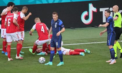 SỐC: Trận Euro phải hoãn vì ngôi sao đột quỵ ngay trên sân, may mắn đã qua cơn nguy kịch