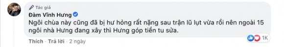 Đàm Vĩnh Hưng chính thức lên tiếng khi bị chỉ trích gay gắt vì dùng tiền cứu trợ miền Trung để đi sửa chùa ở Nghệ An - Ảnh 2.