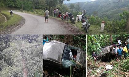 Giám đốc và phó giám đốc tử vong khi xe lao xuống vực ở Lai Châu