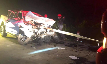 Tai nạn kinh hoàng lúc nửa đêm, 1 cán bộ y tế tử vong, 3 người khác bị thương nặng