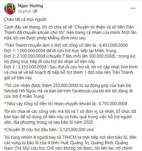Mẹ Hồ Ngọc Hà chính thức lên tiếng làm rõ 6,4 tỷ nhận từ Trấn Thành, khẳng định không ăn chặn tiền từ thiện