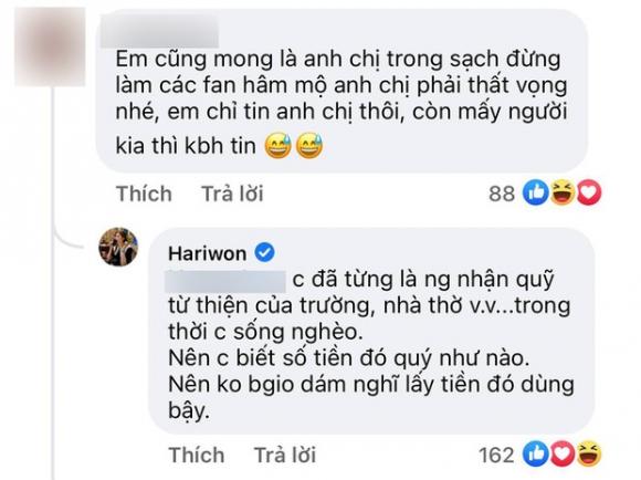 Trấn Thành công khai sao kê vẫn chưa yên ổn, Hari Won liền bộc lộ cảm xúc chỉ qua 3 từ