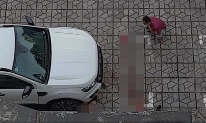 Hà Nội: Bàng hoàng phát hiện người phụ nữ tử vong dưới gầm xe con