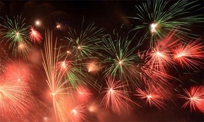 Hình ảnh pháo hoa ấn tượng đêm Quốc khánh