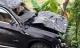Phú Thọ: Xe sang BMW X3 bay lên cây, lao xuống kênh bẹp dúm