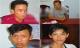 Chân dung bốn nghi phạm hiếp dâm tập thể một phụ nữ đang mang thai